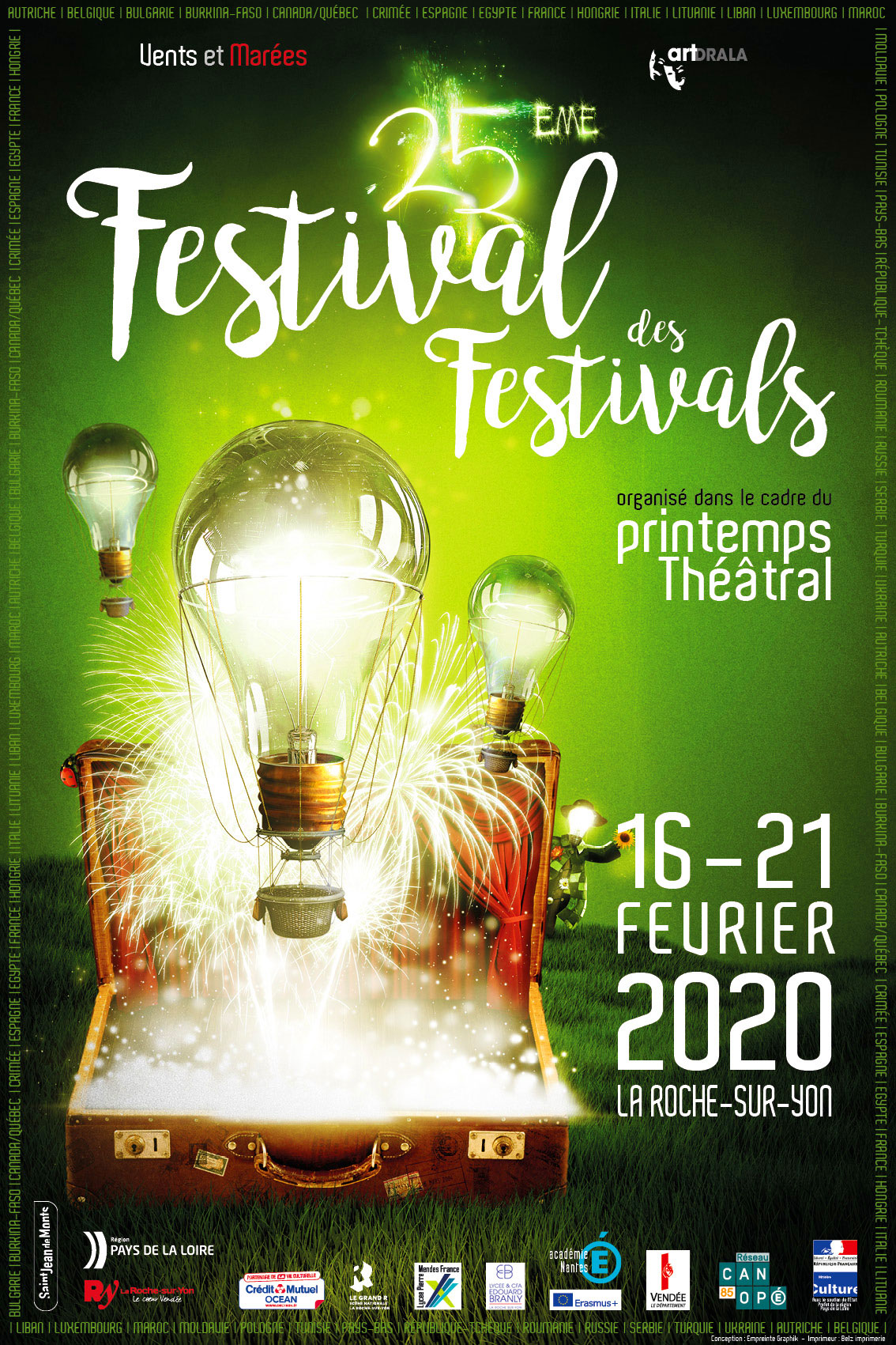 Affiche du Festival des festival 2017